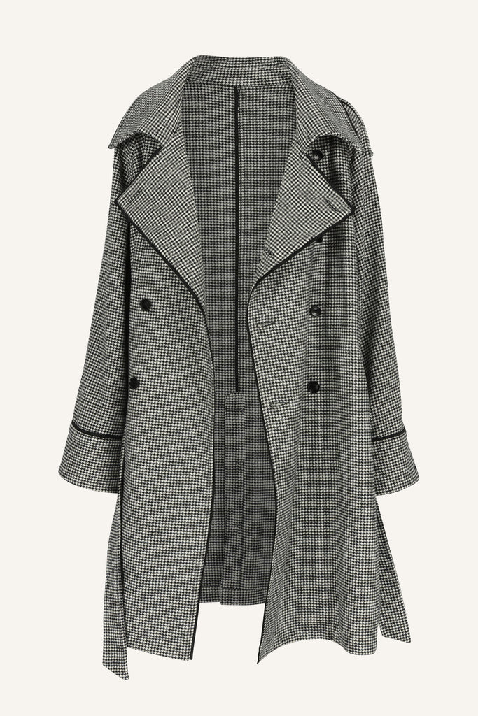 Loose fit double breasted trench coat