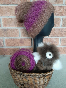 Brown and Purple Variegated LOPI Alpaca Yarn