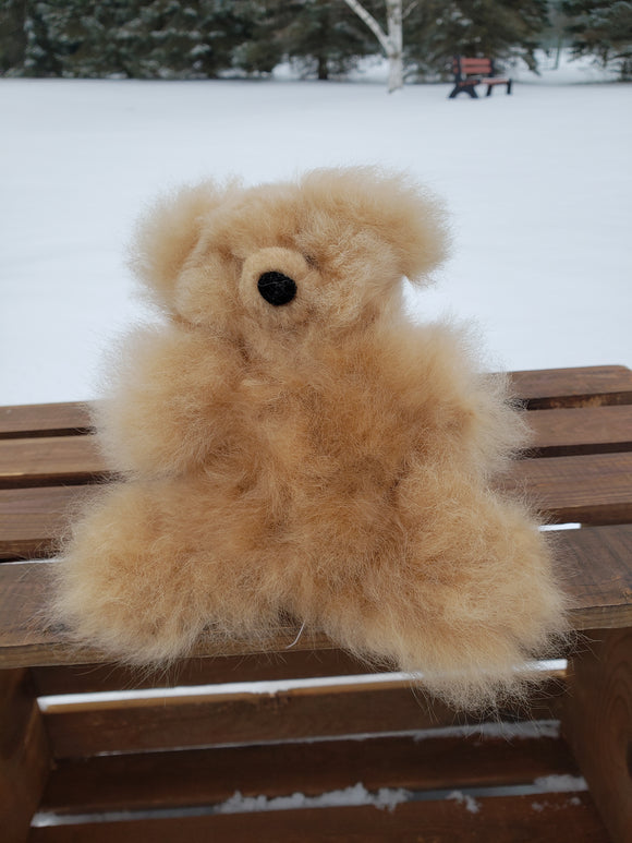 Alpaca fleece Teddy Bear - Brown