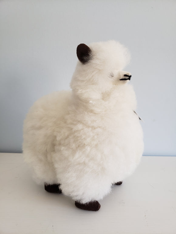 Large White Alpaca Toy
