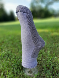 Gray Thermal Ankle Alpaca Socks