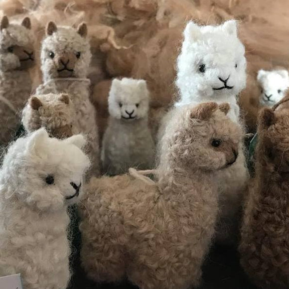 Needle Felted Alpaca Figurines