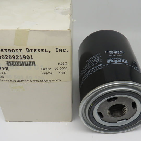 0020921901 Detroit Diesel Fuel Filter For MTU1500