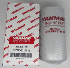 127695-35150-12 Yanmar Oil Filter 4LH (A) DTP & STP Also 6CX Series 2-Required