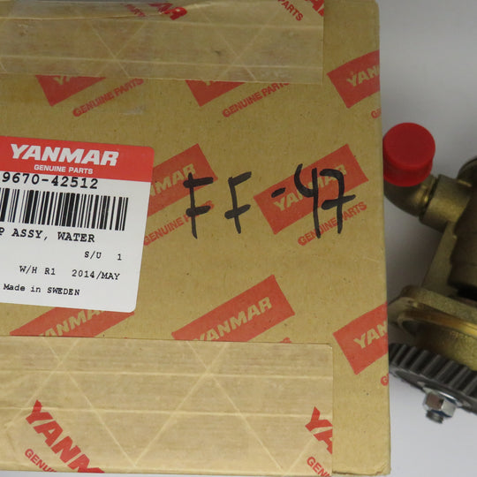 129670-42512 Yanmar Sea Water Pump (Replaces 129670-4510 & 129670-42513) for JH3, 4JH4 Series (Same as Johnson 10-13328 & 10-24508)