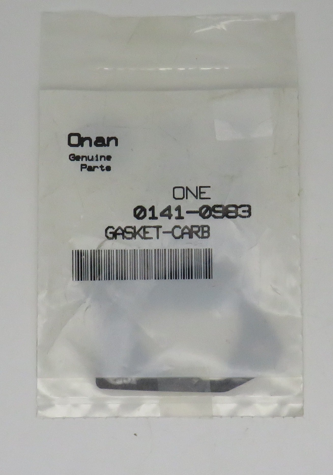 141-0983 Onan Carb Gasket. This Gasket goes with Carb kit A040N099 (Requires 1)