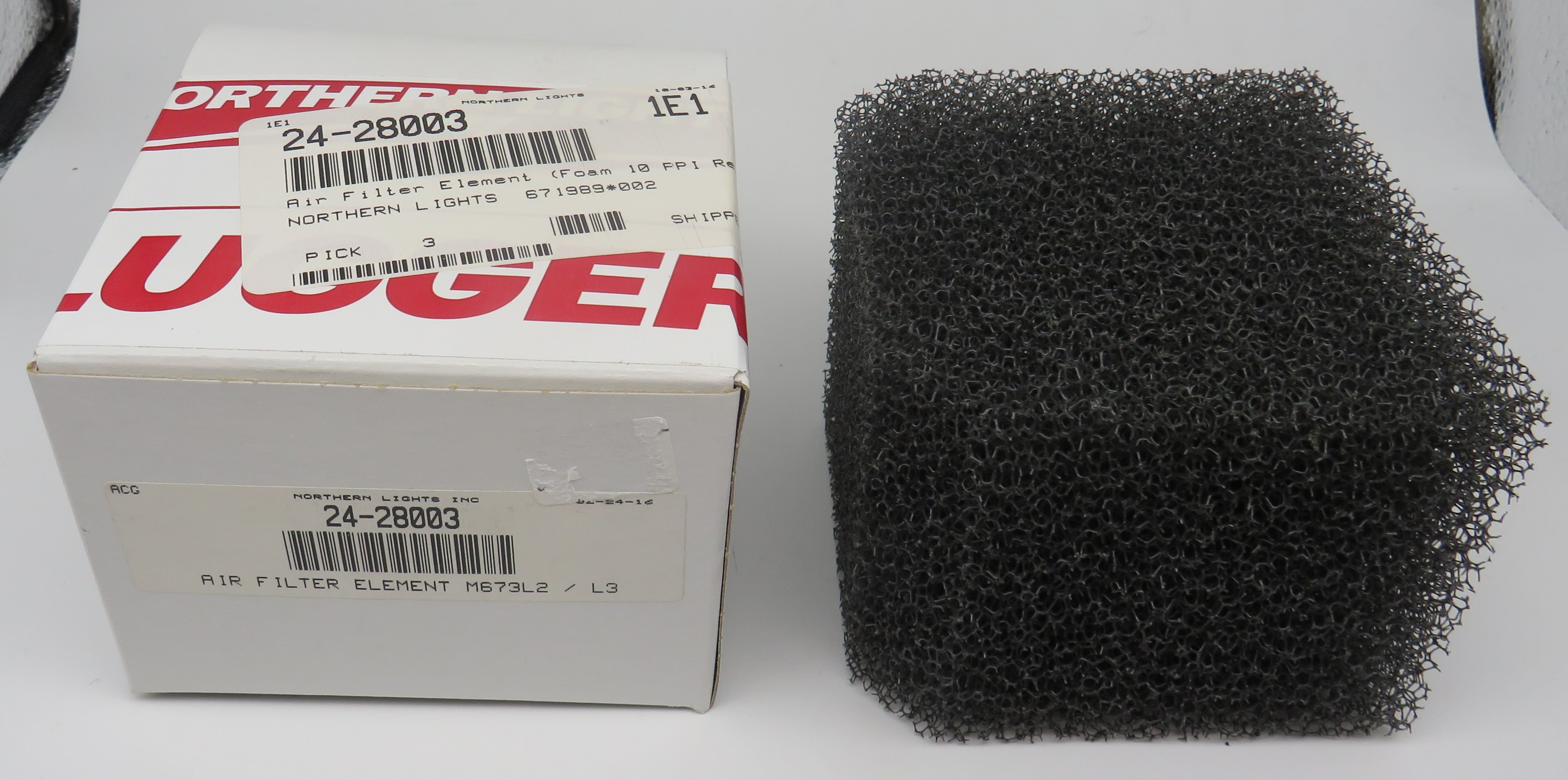 24-28003 Northern Lights Lugger Air Filter Element for M673L2-L3/ M673LD2-LD3