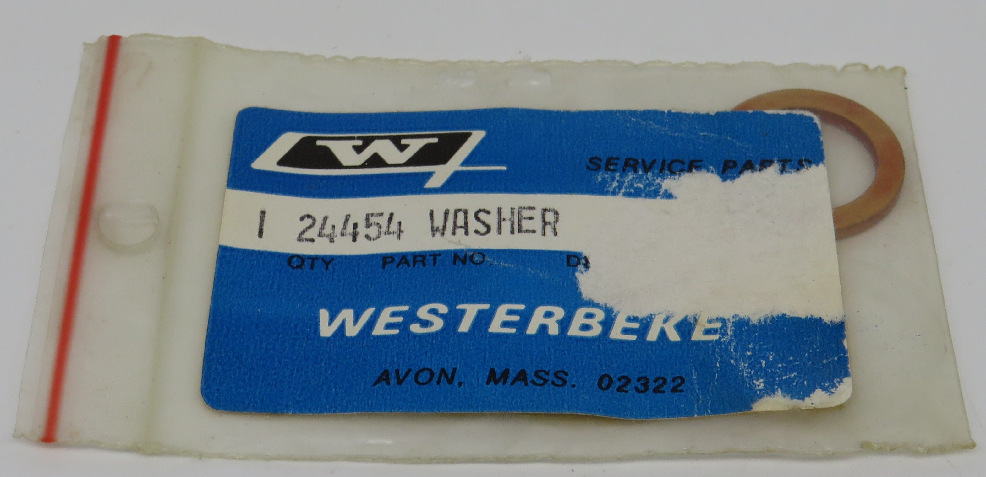 24454 Westerbeke Washer, Fuel Injector Nozzle for 71B Four/20.0 BED-60Hz/ 16.0 BED