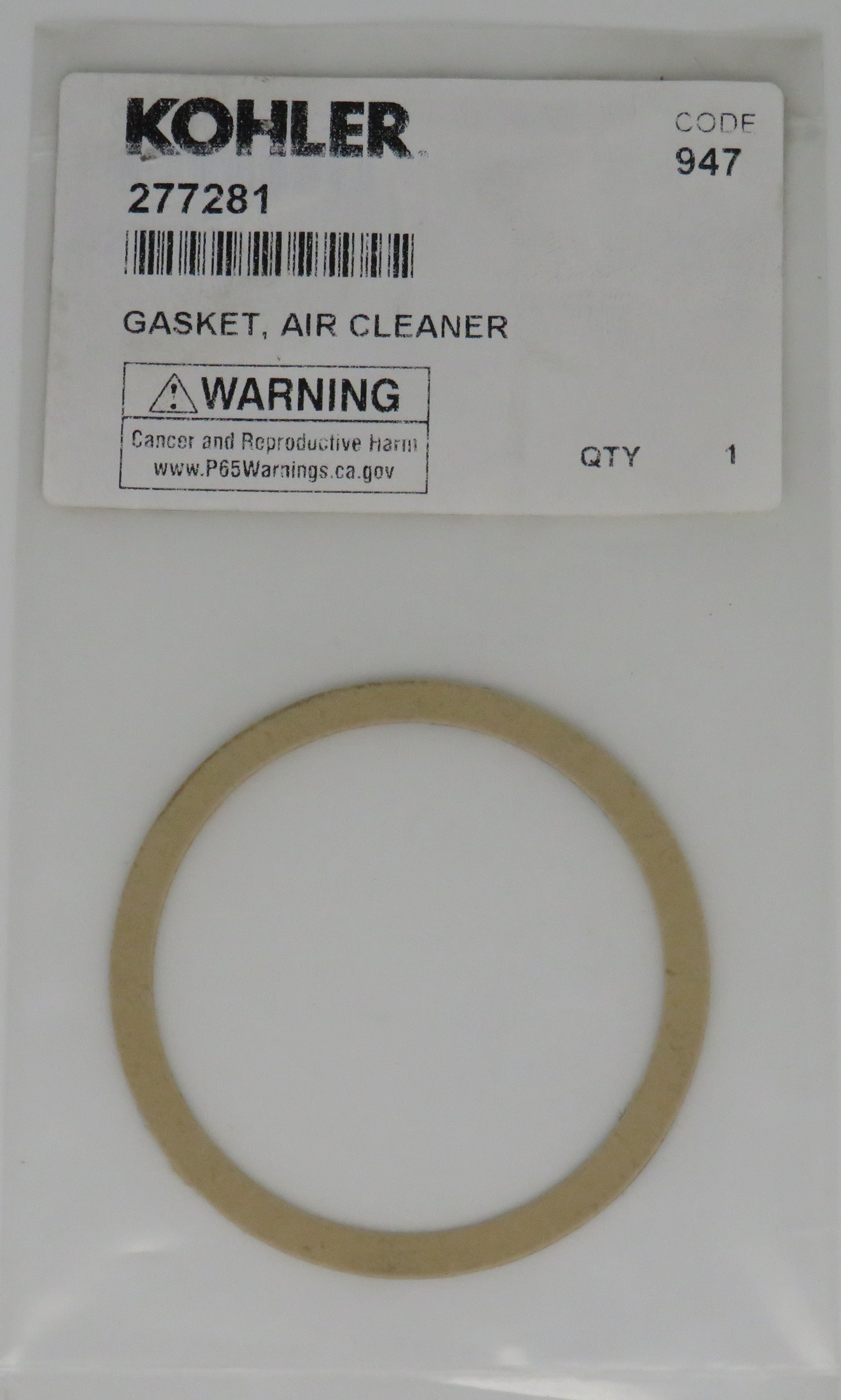 277281 Kohler Air Cleaner Gasket
