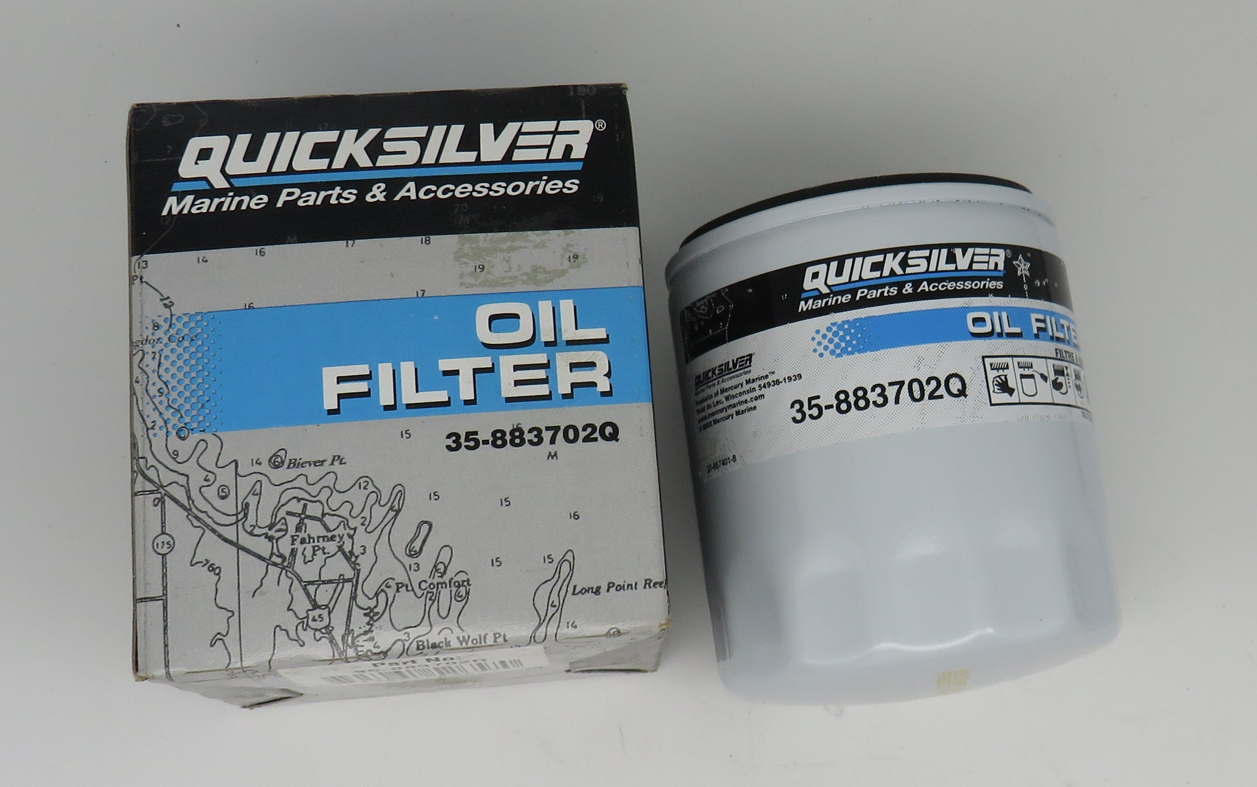 35-883702Q Quick Silver Oil Filter Supersedes 35-802884Q