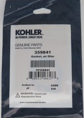 359841 Kohler Air Filter Gasket for Carburetor 359847