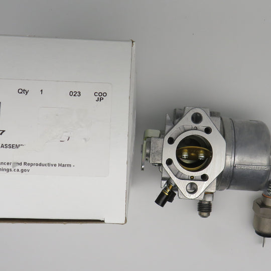359847 Kohler Carburetor Assembly (Replaces OBSOLETE discontinued 359847-S) for Kohler Marine Generator with Kawasaki engine. Kohler 4Ef 5Ef 6Ef, 5E - 7.3E Gaskets not included
