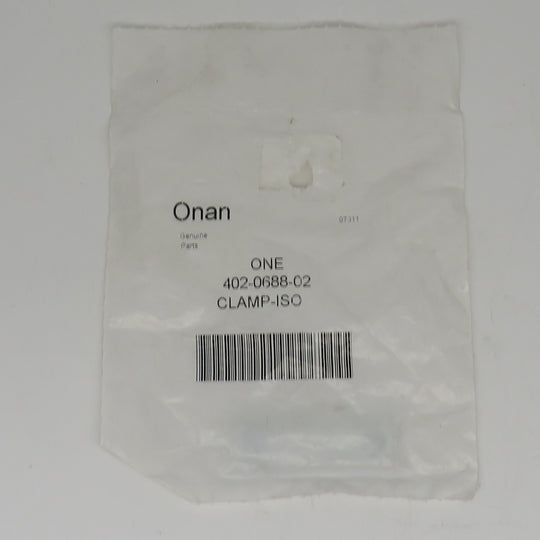 402-0688-02 Onan Clamp-ISO For HDKAJ, HDKAK, & HDKAT On Exhaust System
