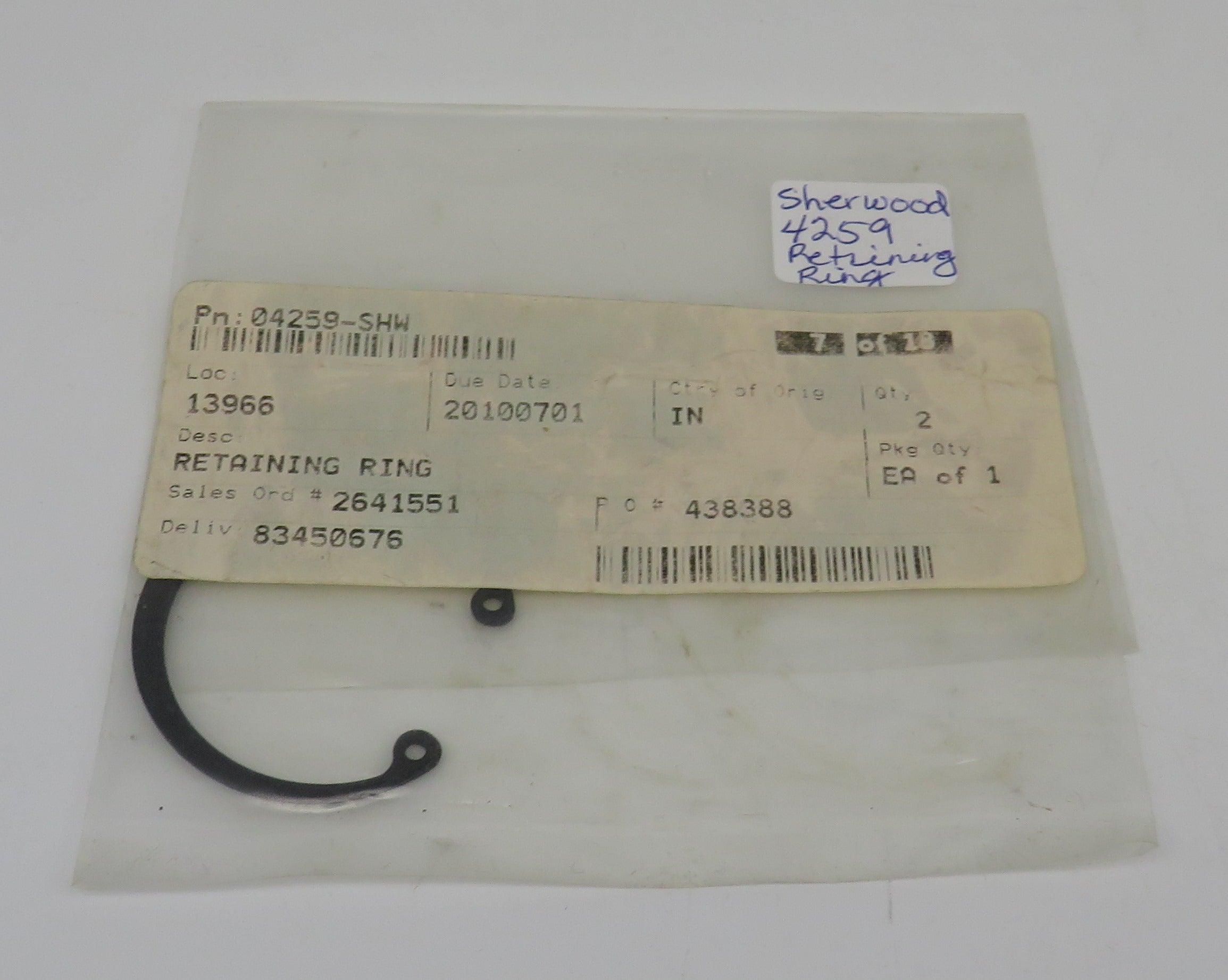 4259 Sherwood Retaining Ring (Snap Ring)