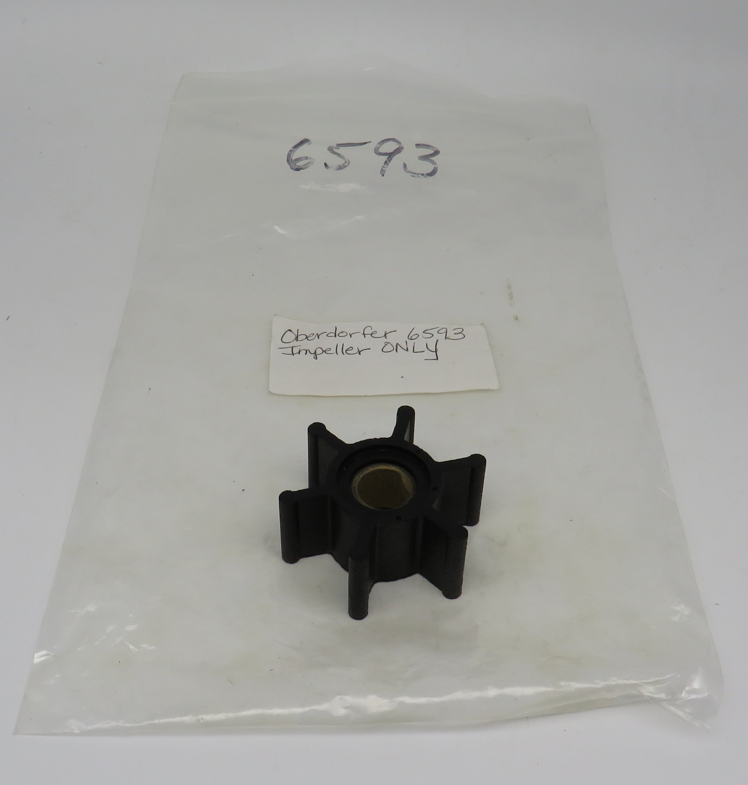 6593 Oberdorfer Impeller ONLY/ This Impeller Crosses with Onan Impeller 132-0282/132-0316/132-0334
