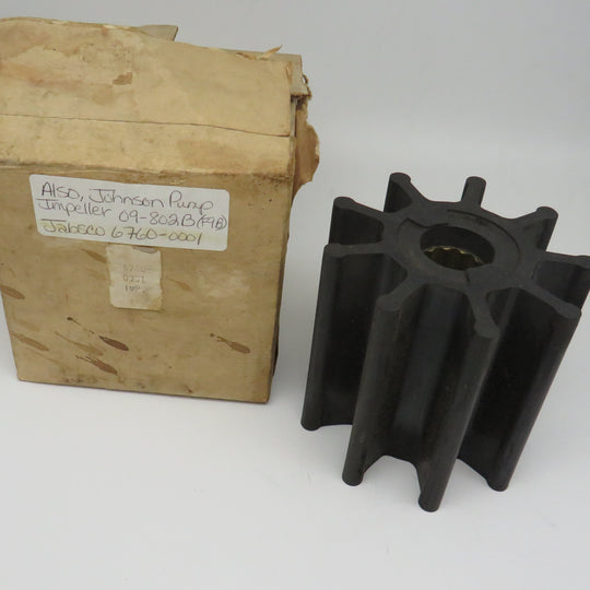6760-0001 Jabsco Par & 09-802B Johnson Pump Impeller (F9B)