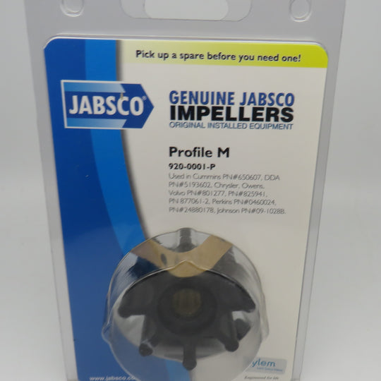 920-0001-P Jabsco Par Impeller Kit Also, Jabsco 17937-0001