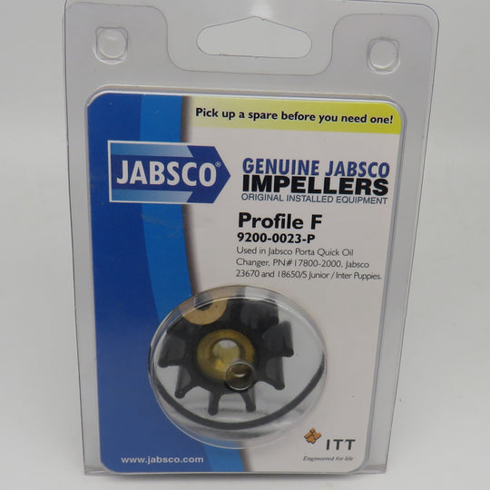 9200-0023 Jabsco Par Impeller Kit Replaces 9200-0003