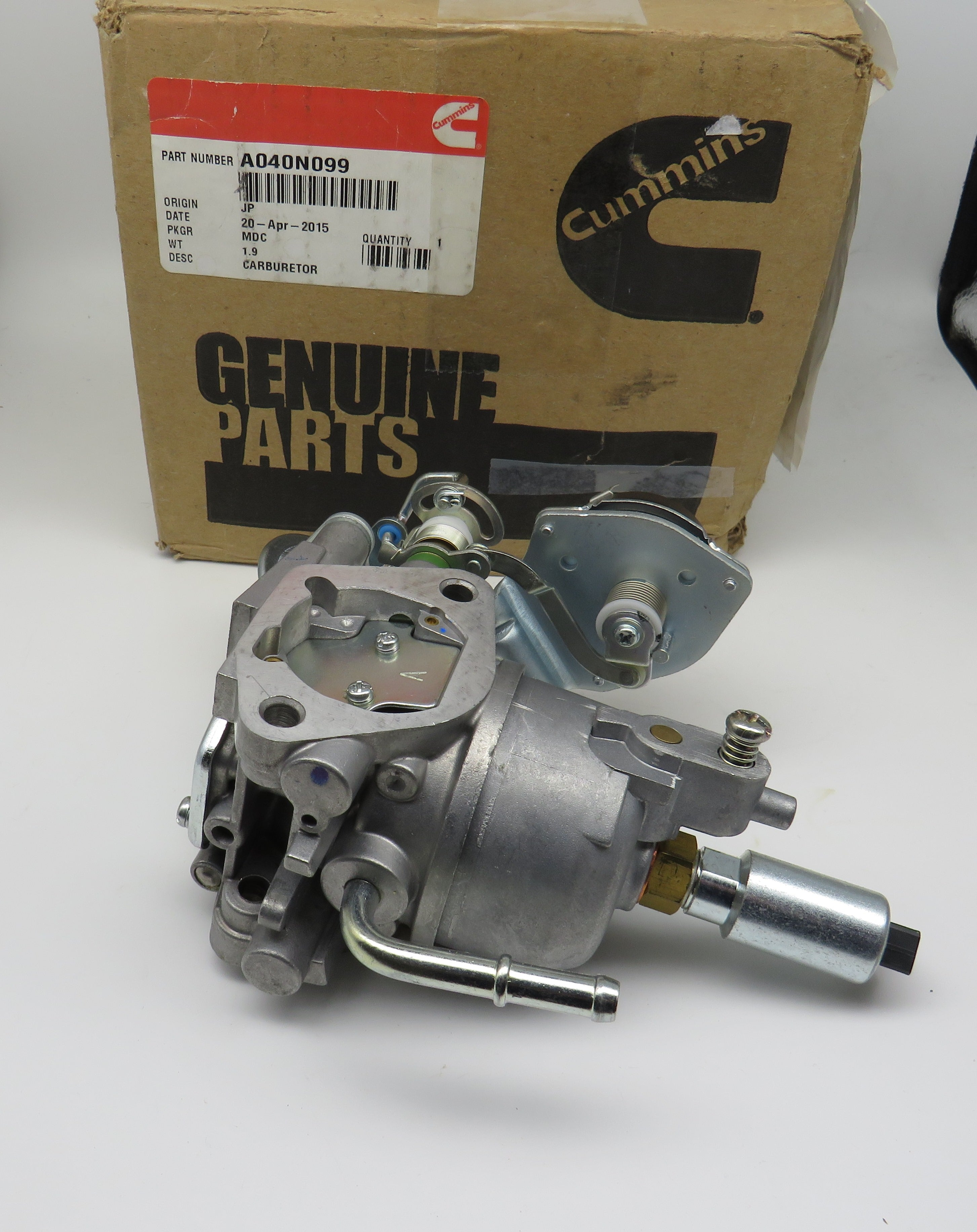 A040N099 Onan Carburetor for 5500 Marqius Gold HGJAB (Begin Spec J) Requires (2) 141-0982 & (1) 141-0983 Gaskets Sold Separately