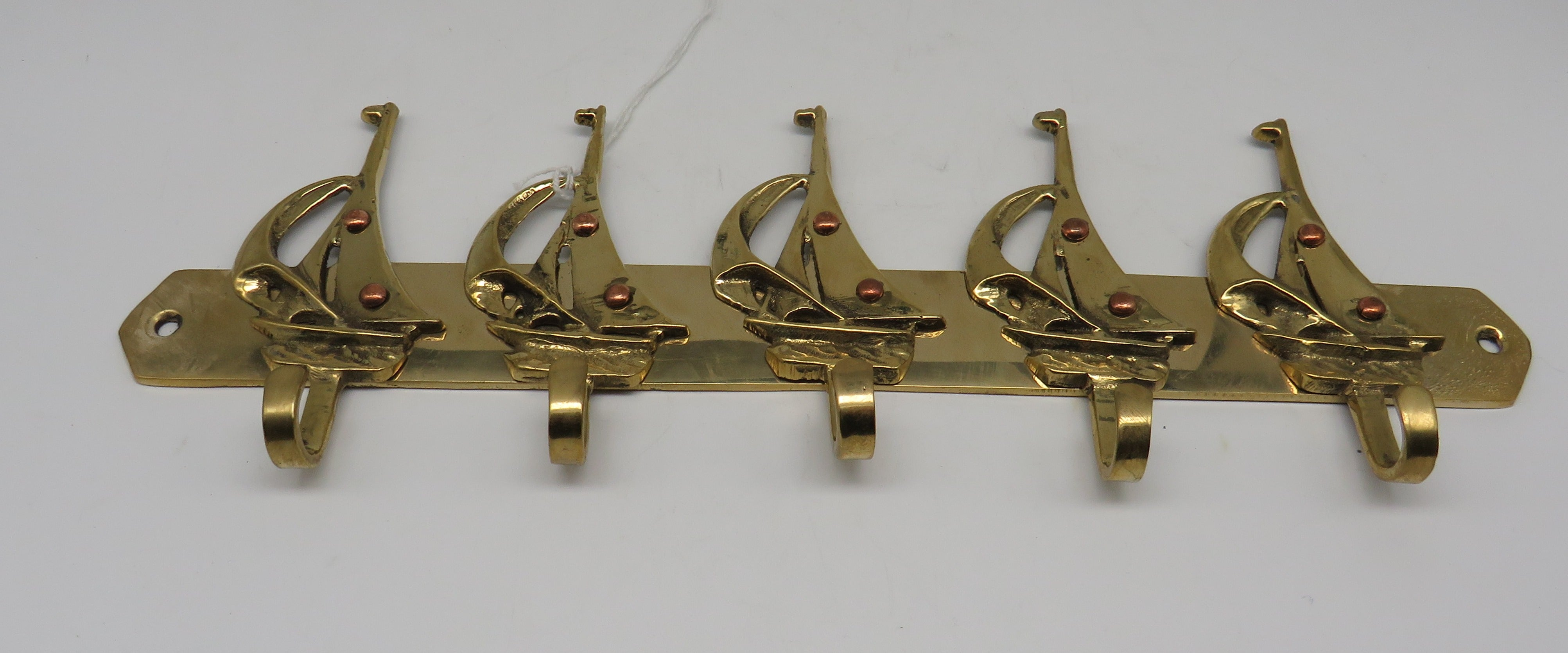 Nautical Brass 5 Sailboat Brass Hook