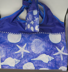 Cape Shore Blue Water Shells Travel Tote  and Change Pouch OBSOLETE