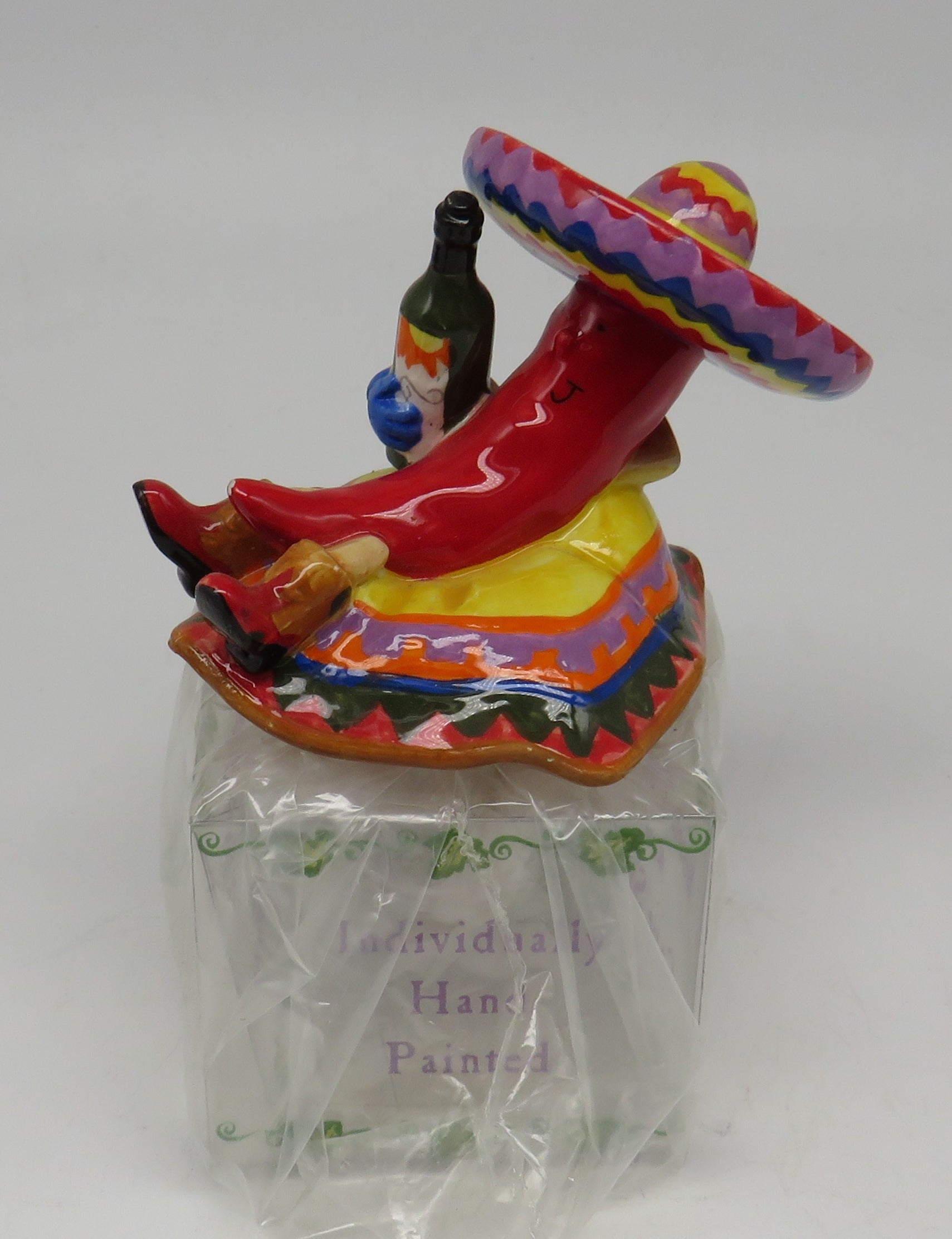 Cape Shore Ceramic Chili Pepperman Bottle Topper OBSOLETE