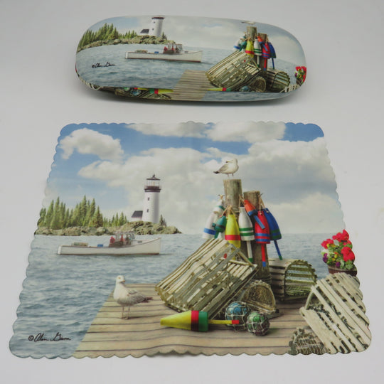 Cape Shore Dockside Eye Glass Case With Matching Lens Cloth
