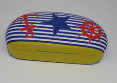 Cape Shore Nautical Chic Sunglasses Case With Matching Lens Cloth