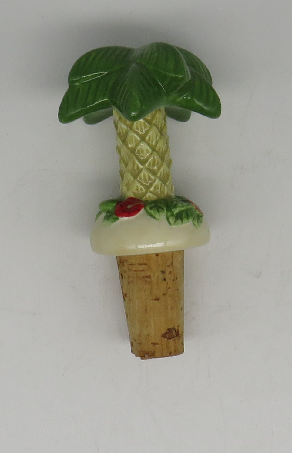 Cape Shore Ceramic Palm Tree Bottle Topper OBSOLETE
