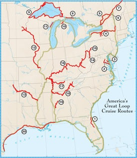 America's Great Loop (AGLCA) Place Maps (Place Mats) 11