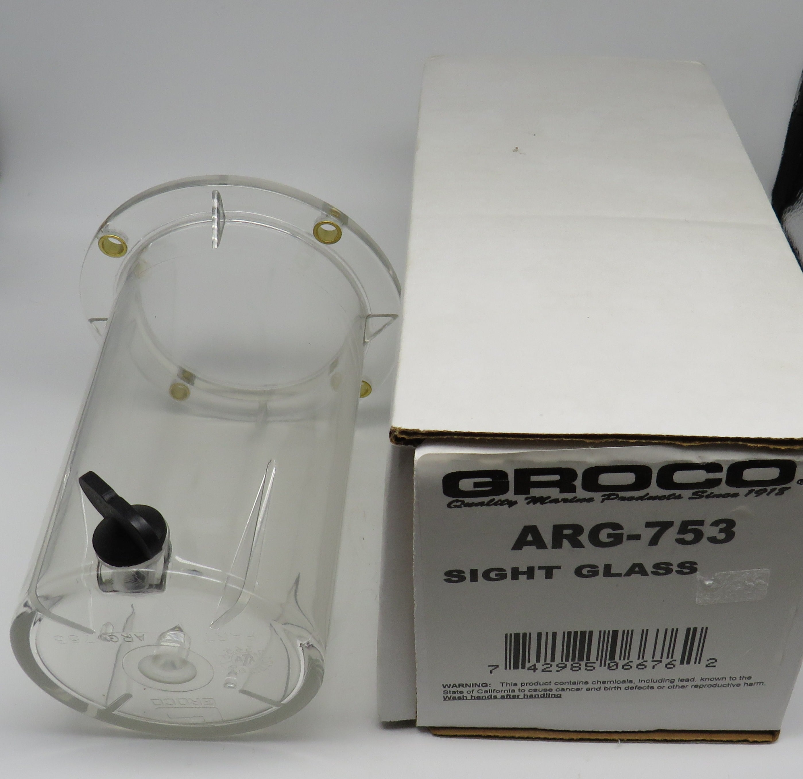 ARG-753 Groco 3-1/2 x 6 Sight Glass Cylinder