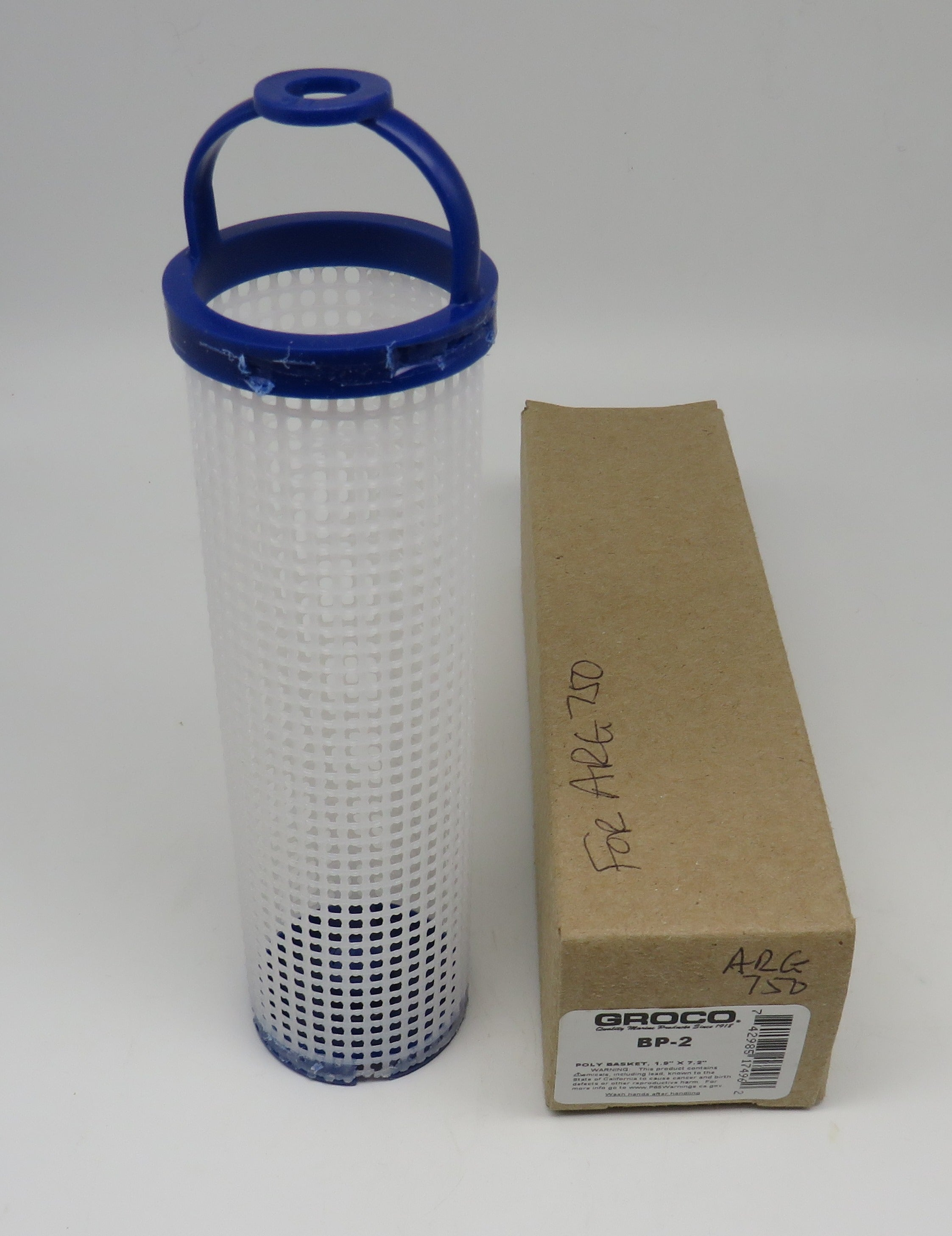 BP-2 Groco Strainer Basket Plastic For ARG 750 (Also, PS-69-C)