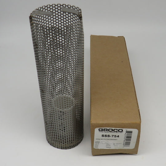 SSS-754 Groco Stainless Steel Strainer Basket 1.81x6.00