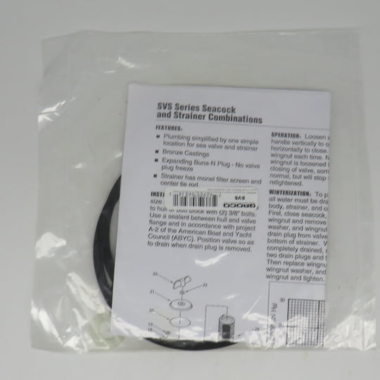 SVS Groco Sea Strainer Service Repair Kit For SVS 750/1000/1250