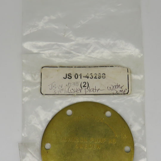 JS 01-43298 Johnson Cover Plate-Water Pump
