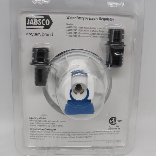 44412-1045 Jabsco Par Water Pressure Regulator Replaces 44410-1000