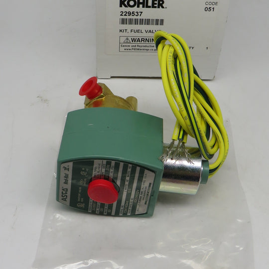 229537 Kohler Fuel Valve Solenoid Replaces 47 462 02 For 7.5 Generator mechanical fuel pump A-241196, 50 393 06, 50 393 08