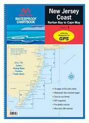 New Jersey Coast Raritan Bay to Cape May Maptech Waterproof Chartbook Edition 3