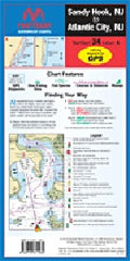Sandy Hook, NJ to Atlantic City, NJ Maptech Waterproof Charts Number 34, Edition 4