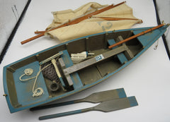 Authentic Model (AS123) Y-12 Wooden Ship Model Yarmouth Cutter, Teal Sailboat OBSOLETE