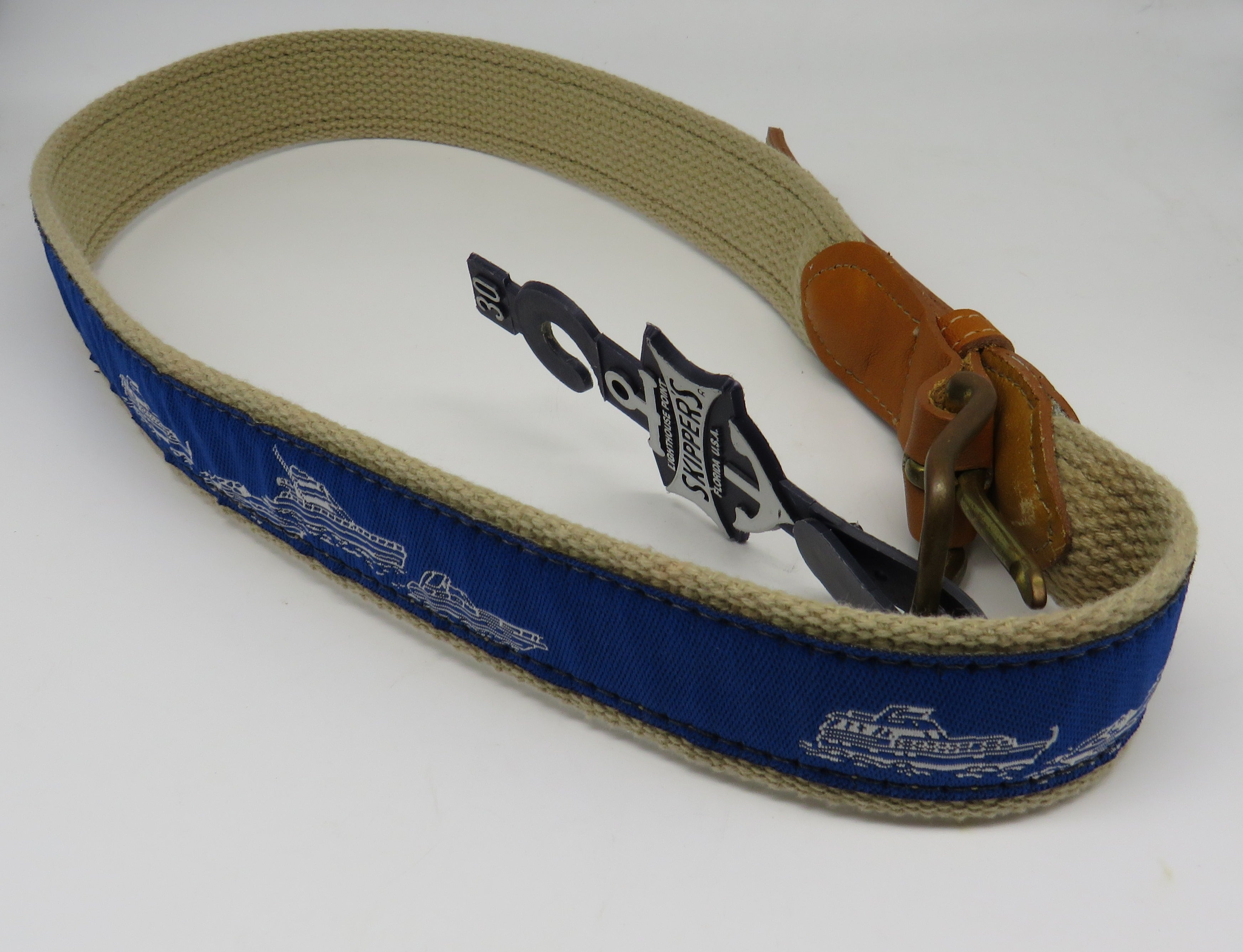 Nautical Belt #56 Power Boats Belt OBSOLETE Design Size 50