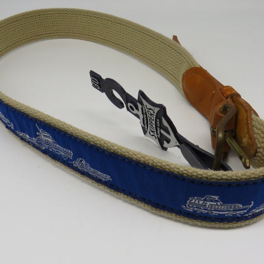 Nautical Belt #56 Power Boats Belt OBSOLETE Design Size 34