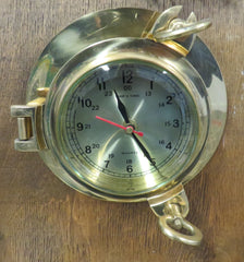 Nautical Brass Porthole Clock 7