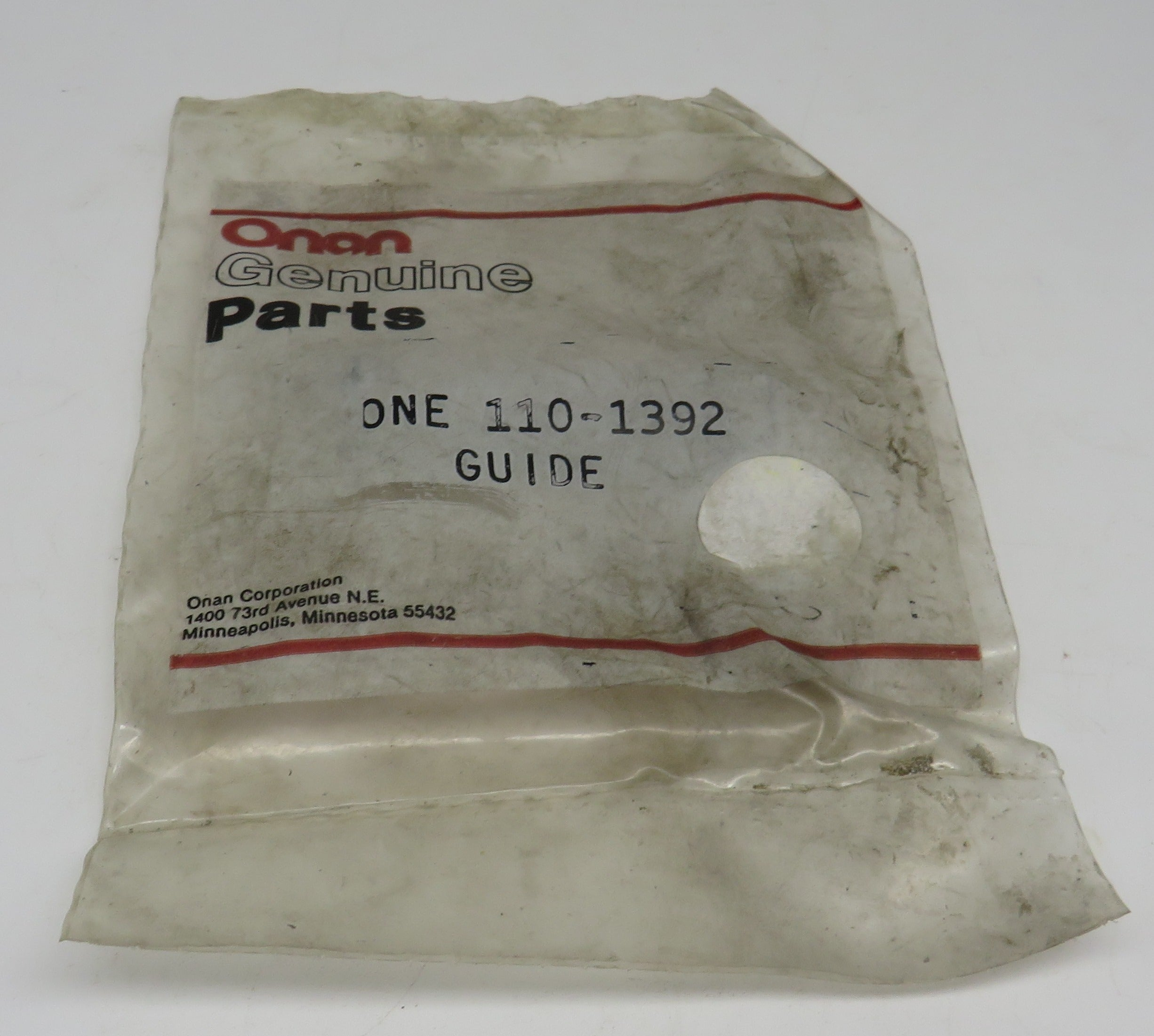 110-1392 Onan Guide (One Piece) for RJC Genset (Spec A-AC) OBSOLETE