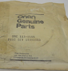 113-0166 Onan Piston Ring Set Standard for NHA, NHAV, NHB, NHBV (Spec A-D) Engine