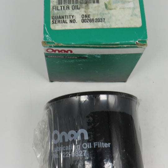 122-0827 Onan Oil Filter OBSOLETE Supersedes Onan 185-2123 Oil Filter (For RV application) DKC (Spec A-B), DKD (Spec A-B & C-E) & DKG (Spec A) Crosses Donaldson P550162