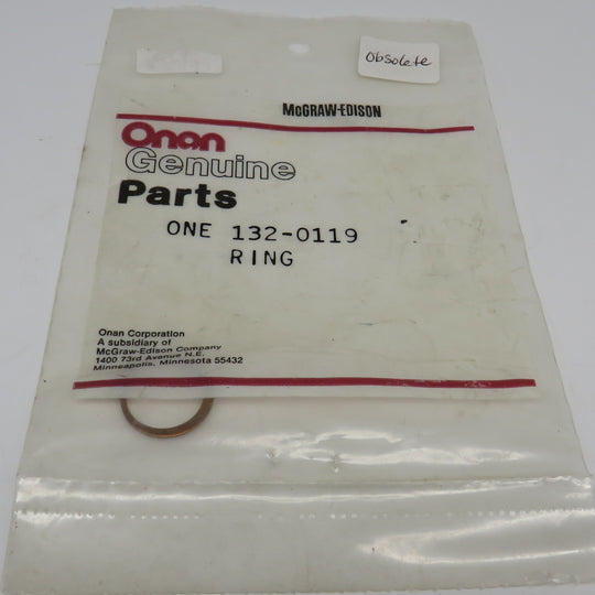 132-0119 Onan Ring OBSOLETE On MDJF Water Pump 132-0251 & 132-0115, Same AS Sherwood 4258