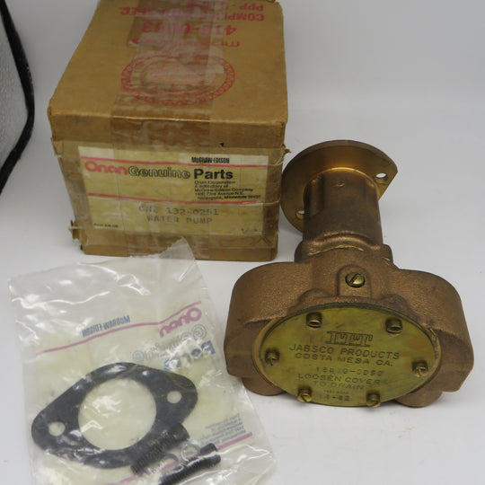 or 132-0147 Onan Water Pump for MDJC & MDJF (Replaces water pump 132-0115) Jabsco 18400-0050132-0251 OBSOLETE