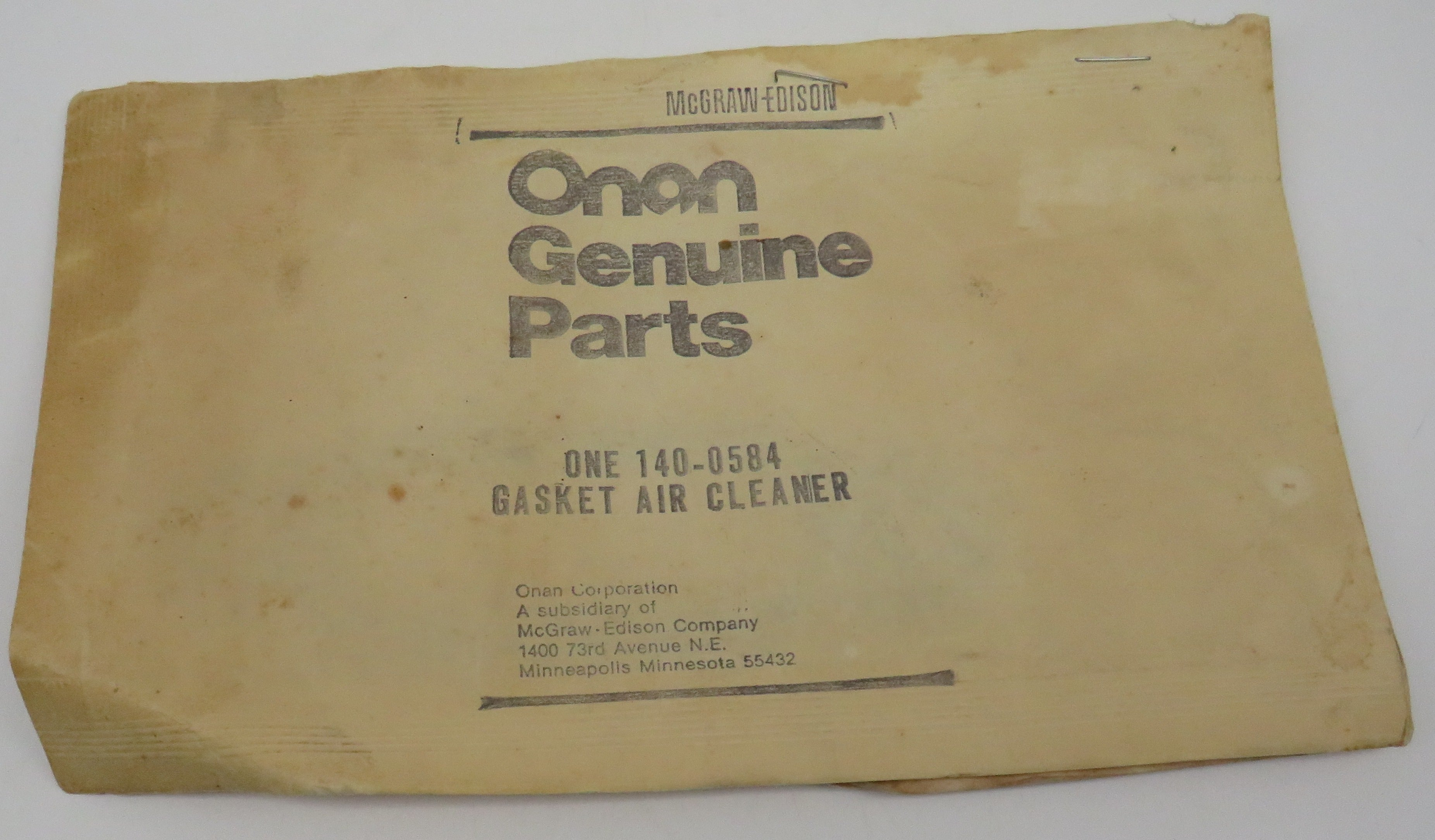 140-0584 Onan Air Cleaner Gasket