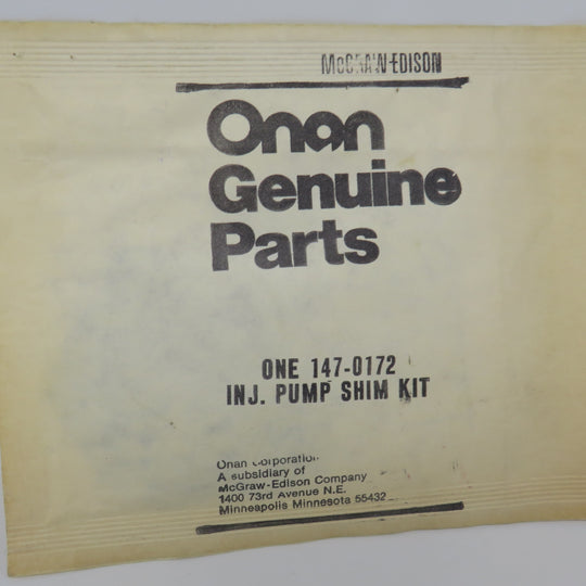 147-0172 Onan Injection Pump Shim Kit OBSOLETE